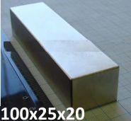 Магнит неодимовый 100х25х20мм