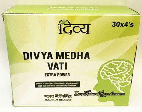Медха Вати Экстра Пауэр | Medha Vati Extra Power | 120 таб. | Divya Pharmacy (Patanjali)