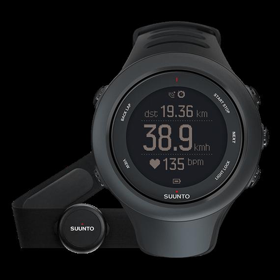Suunto Ambit3 sport black (HR) часы с пульсометром и GPS для многоборья