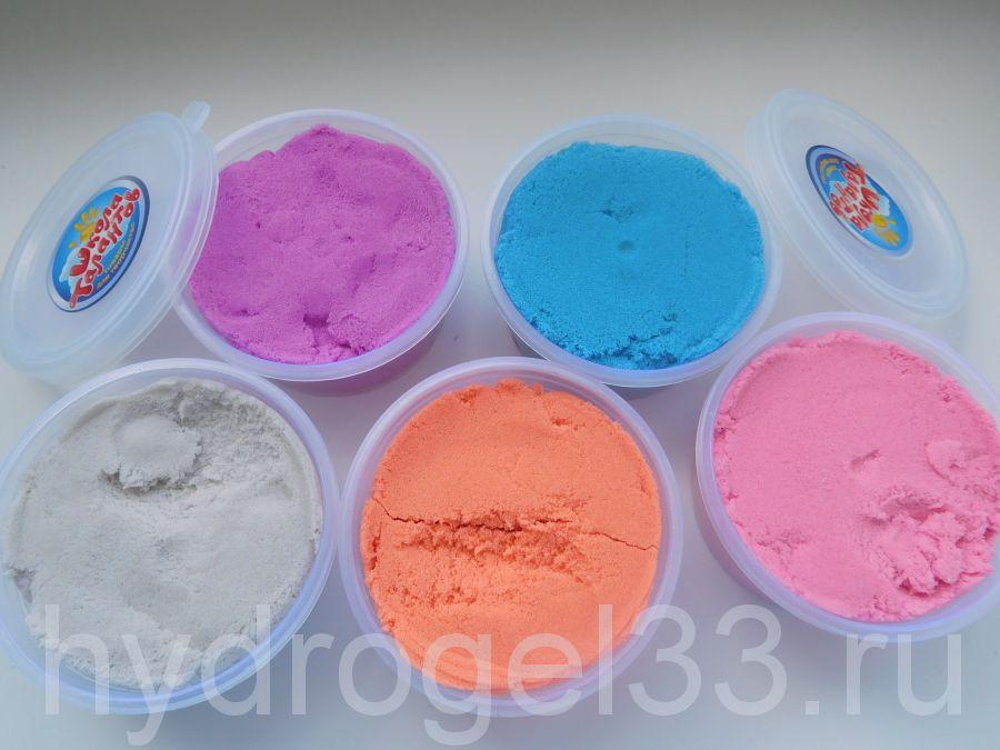 Кинетический песок для лепки 80 гр, 1 шт