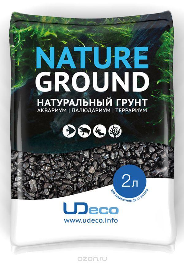 """UDeco Canyon Black - Натуральный грунт для аквариумов """"Черный гравий"""", 6-12 мм"""