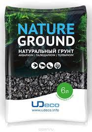 """UDeco Canyon Black - натуральный грунт для аквариумов """"Черный Гравий"""" (фракция 4-6 мм)"""