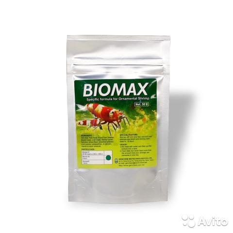 Корма для креветок Genchem Biomax 1/ 2/ 3 50g