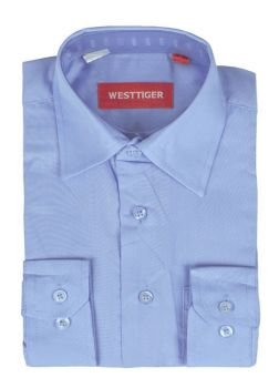 Рубашка однотонная(6-16лет)№2555