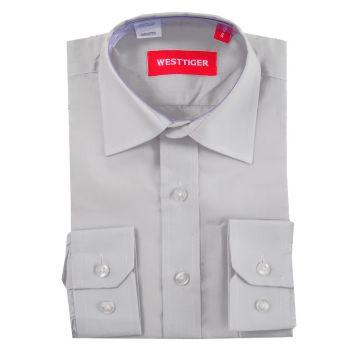 Рубашка однотонная(6-16лет)№2557