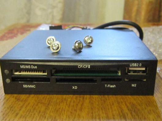 """Картридер внутренний 3.5"""" ACORP CRIP200-B, черный"""