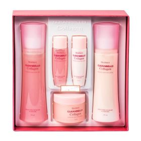 Deoproce Cleanbello Collagen Essential Moisture Skin Care 150 мл + 150 мл + 50 мл - набор увлажняющих средств для лица с коллагеном