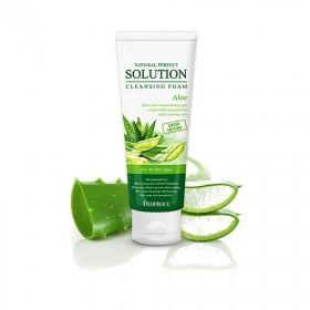 DEOPROCE Natural Perfect Solution Cleansing Foam Aloe 170g - Пенка для умывания с экстрактом алоэ вера