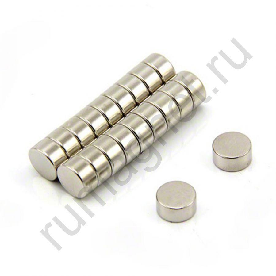 Неодимовый магнит диск 10x5 мм