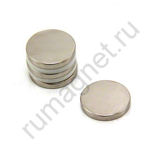 Неодимовый магнит диск 20x3 мм