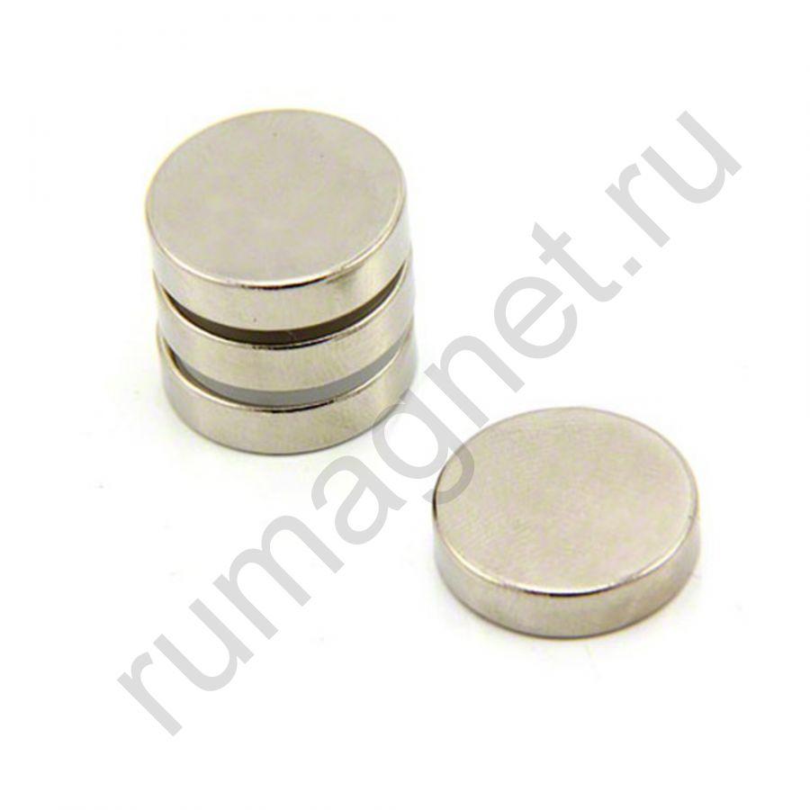 Неодимовый магнит диск 20x5 мм
