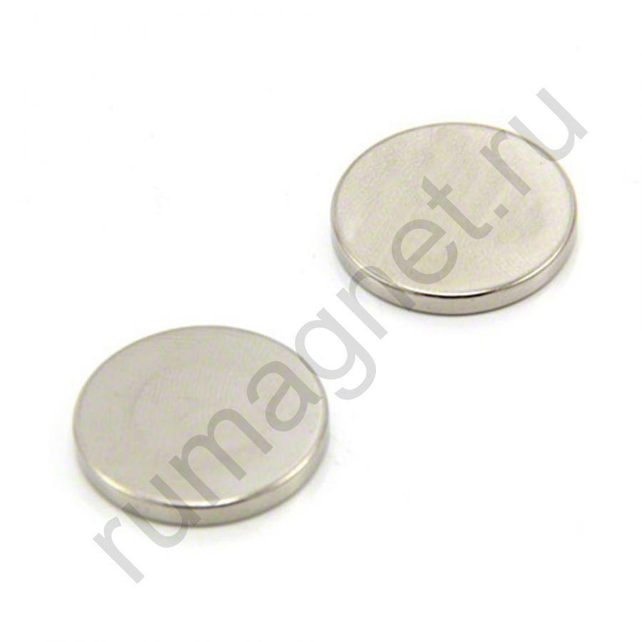 Неодимовый магнит диск 25x3 мм