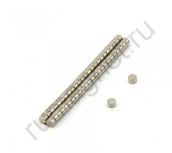 Неодимовый магнит диск 3x2 мм
