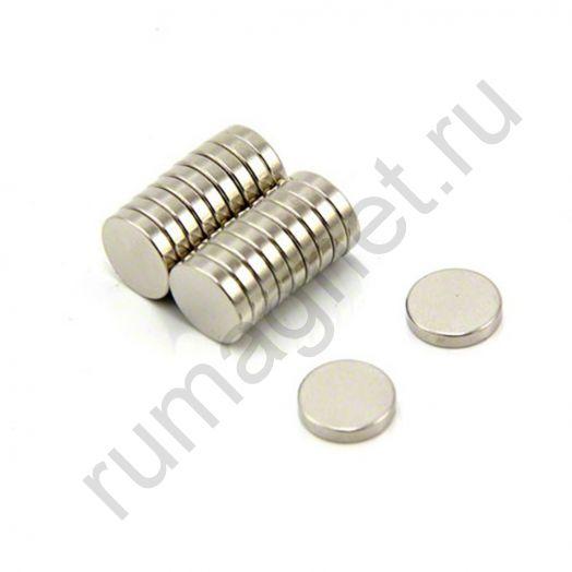 Неодимовый магнит диск 10x2 мм