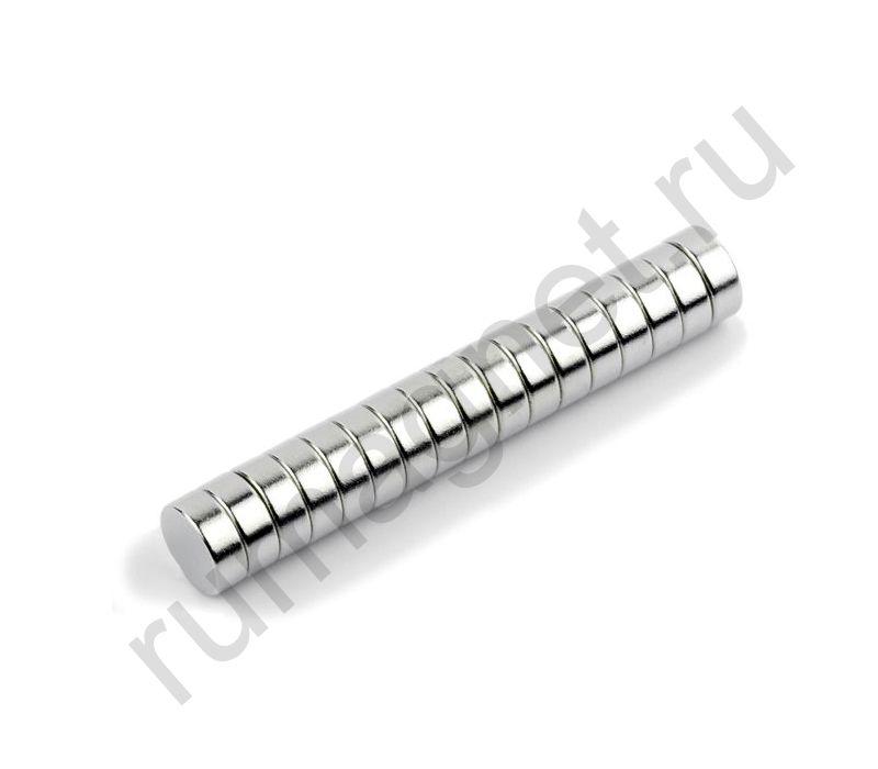 Неодимовый магнит диск 8x3 мм