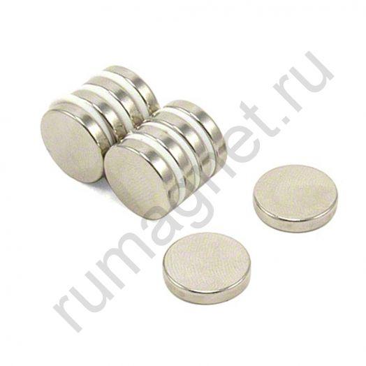 Неодимовый магнит диск 15x3 мм