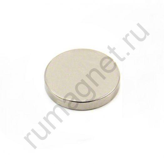 Неодимовый магнит диск 30x5 мм