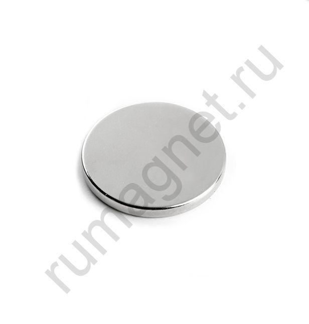 Неодимовый магнит диск 30x3 мм