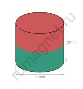 Неодимовый магнит 20x20 мм