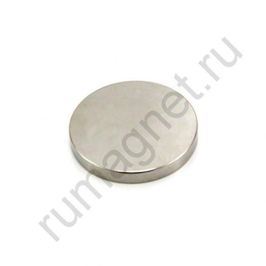 Неодимовый магнит диск 40x5 мм