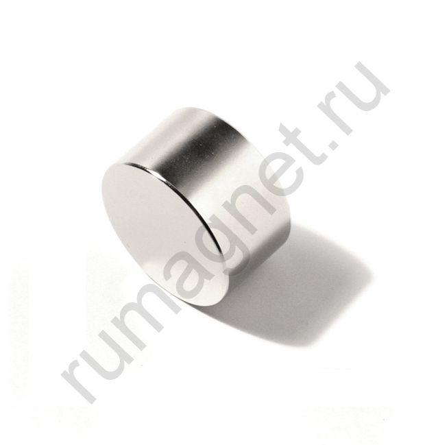 Неодимовый магнит диск 30x30 мм