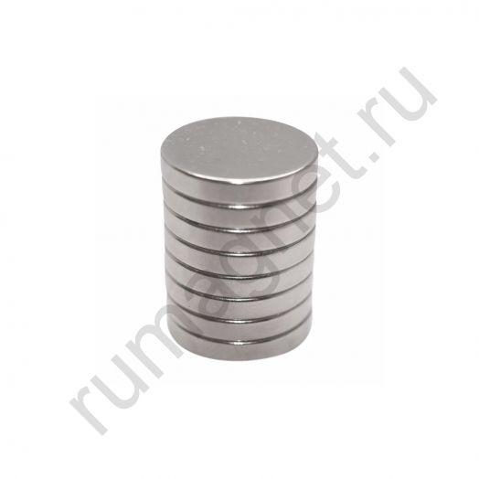 Неодимовый магнит диск 18x3 мм