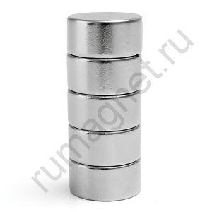 Неодимовый магнит 20x10 мм