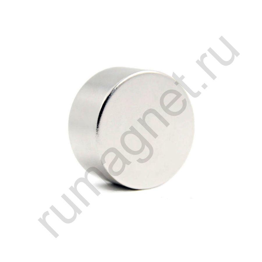 Неодимовый магнит диск 40x20 мм