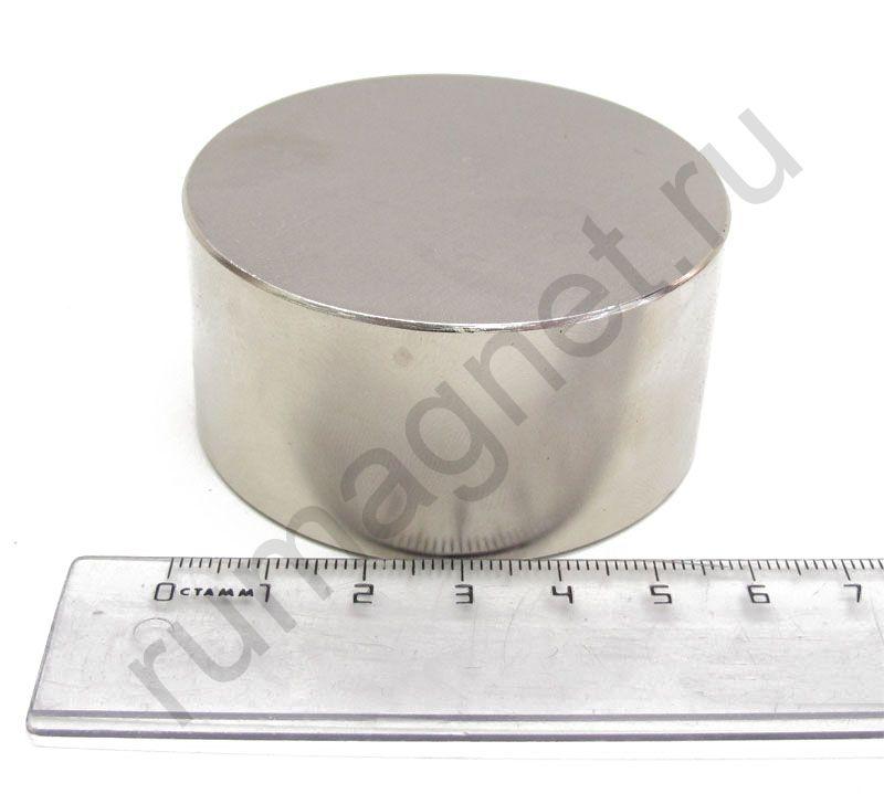 Неодимовый магнит диск 60x30 мм