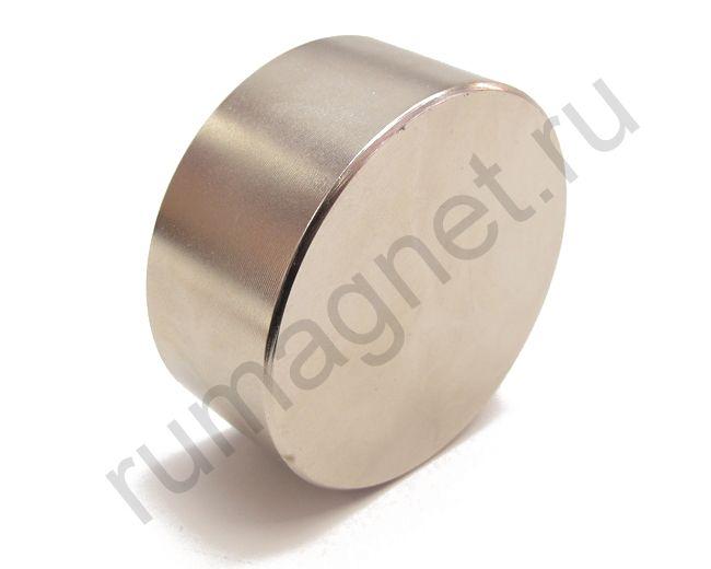 Неодимовый магнит диск 70x20 мм
