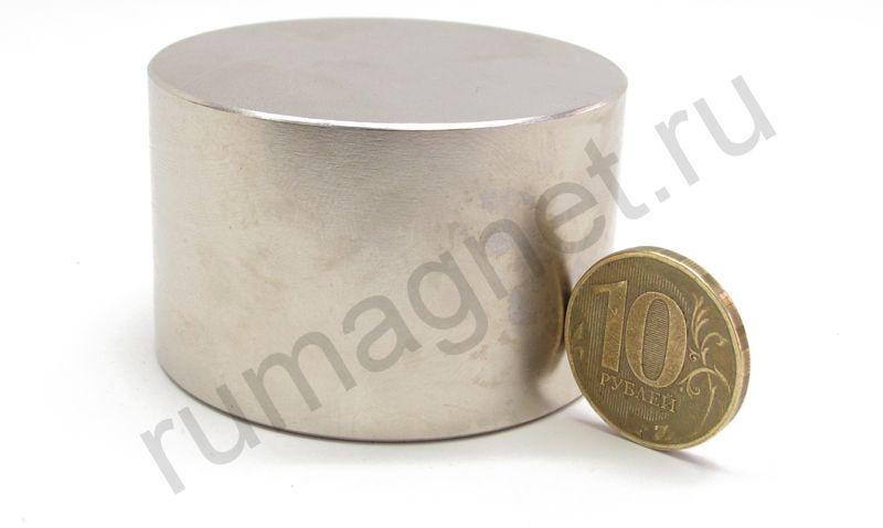Неодимовый магнит диск 50x40 мм