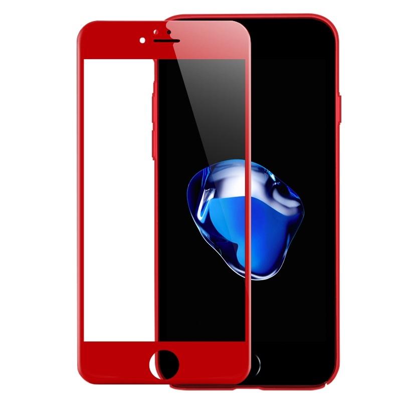 3D ЗАЩИТНОЕ СТЕКЛО ДЛЯ IPHONE 7 Plus (Красное)