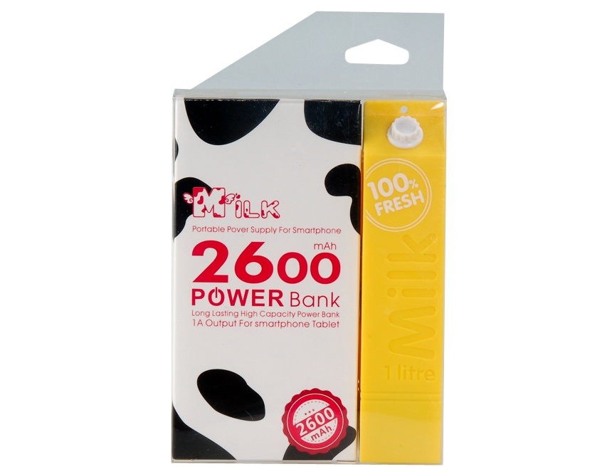 Powerbank Milk Молоко 2600 mAh