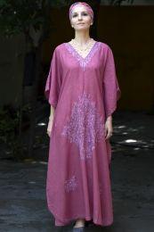 Сиреневое платье из натурального хлопка (Москва)