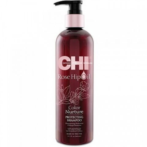 Шампунь с маслом лепестков роз / CHI Rose Hip Oil Shampoo, 11,5oz/355мл фл.
