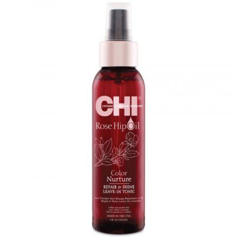 Тоник для волос  с маслом лепестков роз / CHI Rose Hip Repair and Shine  Hair Tonic, 4oz/118мл фл.