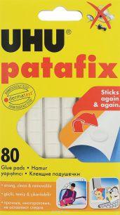 """Клеящие подушечки UHU """"Patafix"""", цвет: белый, 80 шт"""