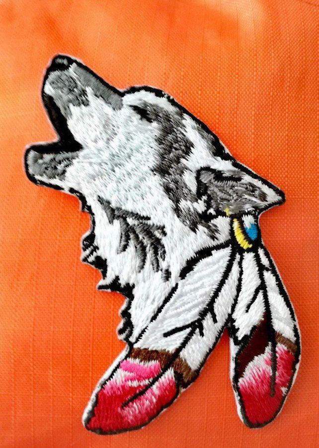 Термическая нашивка Волк индеец