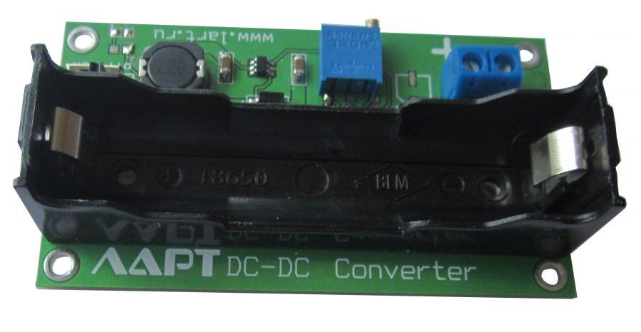 Регулируемый конвертер напряжения питания Li-Po аккумулятора 18650