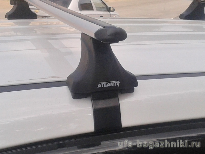 Багажник на крышу Kia Sportage 2016-..., без рейлингов, Атлант, аэродинамические дуги