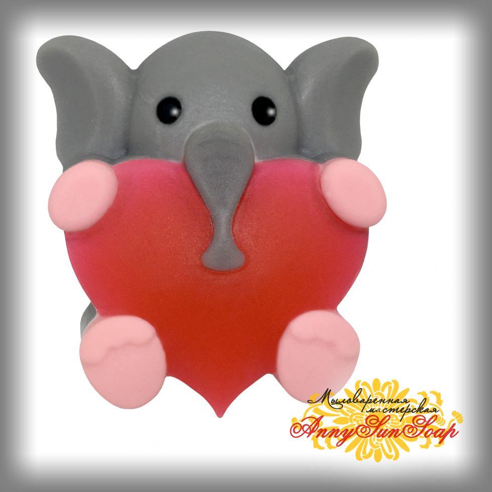 """Мыло """"Слонёнок с сердцем"""""""