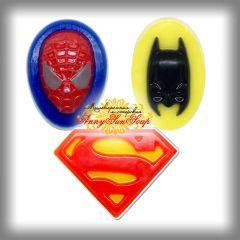 """Мыло """"Супергерой"""" (Супермен, Бэтмен, Человек-паук)"""