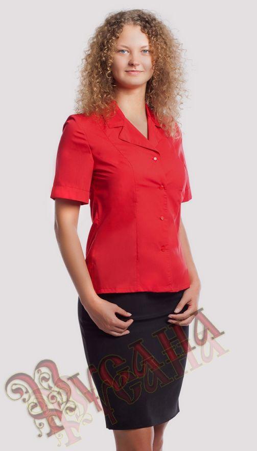 Блуза с английским воротником