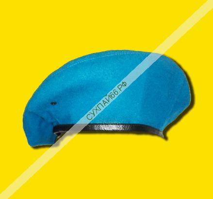 БЕРЕТ ВДВ голубой ★ шовный (капелька)