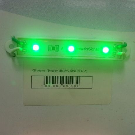 Светодиодный модуль BV-PVC-SMD-1*3-G, A, зеленый