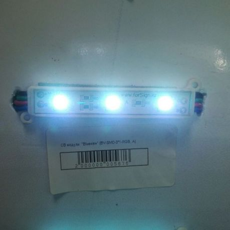 Светодиодный модуль BV-SMD-3*1-RGB, A, красный, зеленый, синий