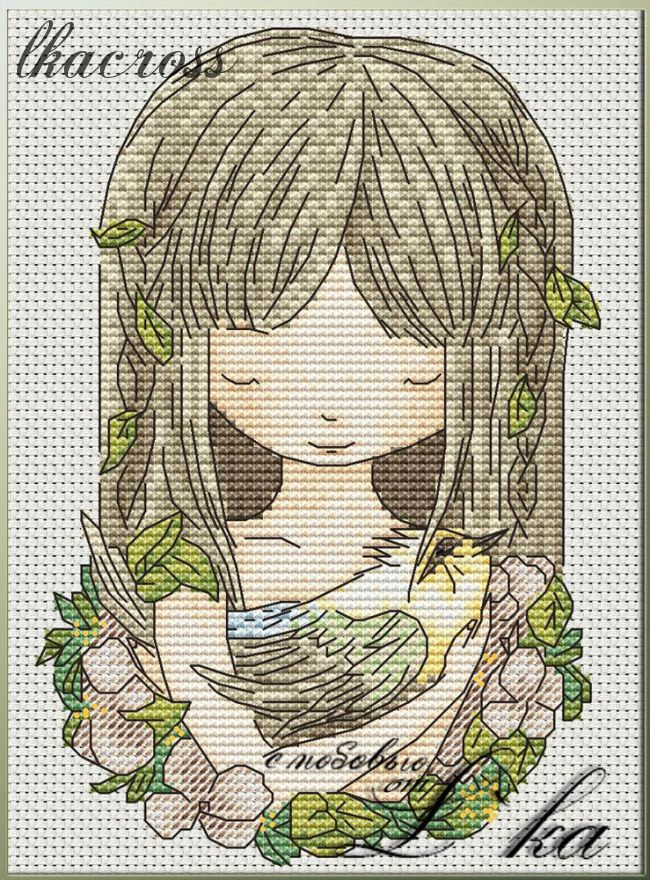"""Nature"". Digital cross stitch pattern."