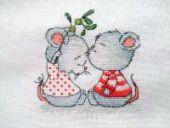 """Cross stitch pattern """"Sprig of mistletoe""""."""