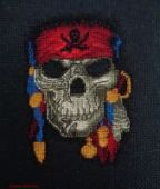 "Cross stitch pattern ""Jolly Roger""."