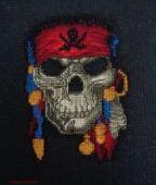 "Cross stitch pattern ""Jolly Roger""."